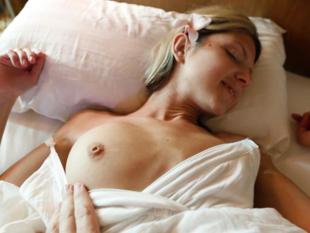 Blonde Girlfriend with firm round boobs