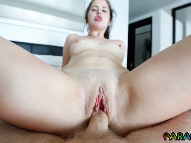 Shaved pussy Horny Girlfriend fucking on top while we are on vacation