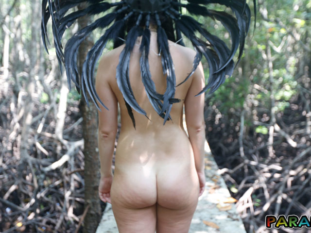 Nude Forest Nymph with bare ass exposed