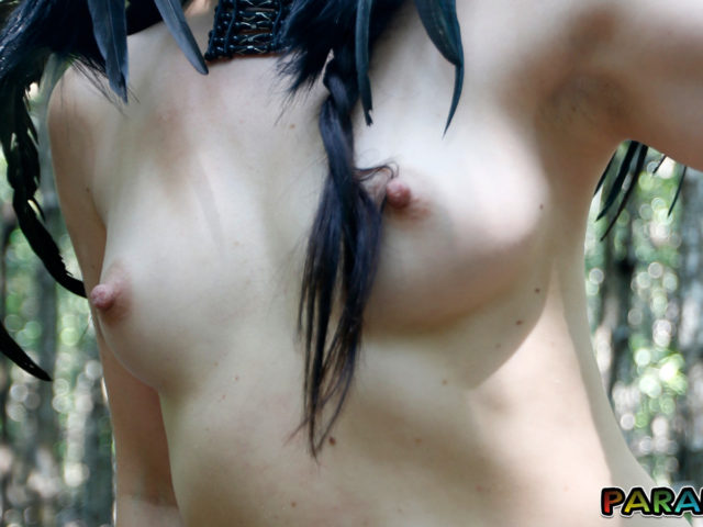 Tiny hard tits on Nude Forest Nymph