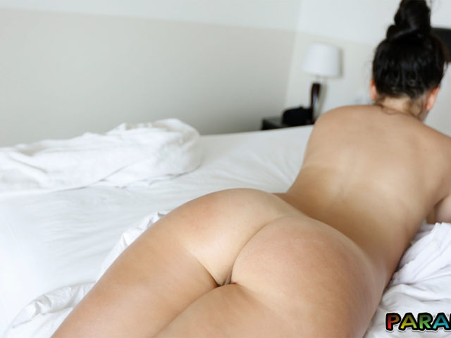 Naked Holiday relaxation with prone ass in view